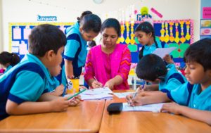 Students with Teacher - Classroom