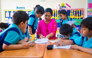 Students with Teacher - Classroom