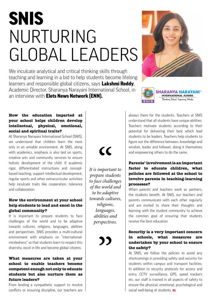 SNIS Nurturing Global Leaders