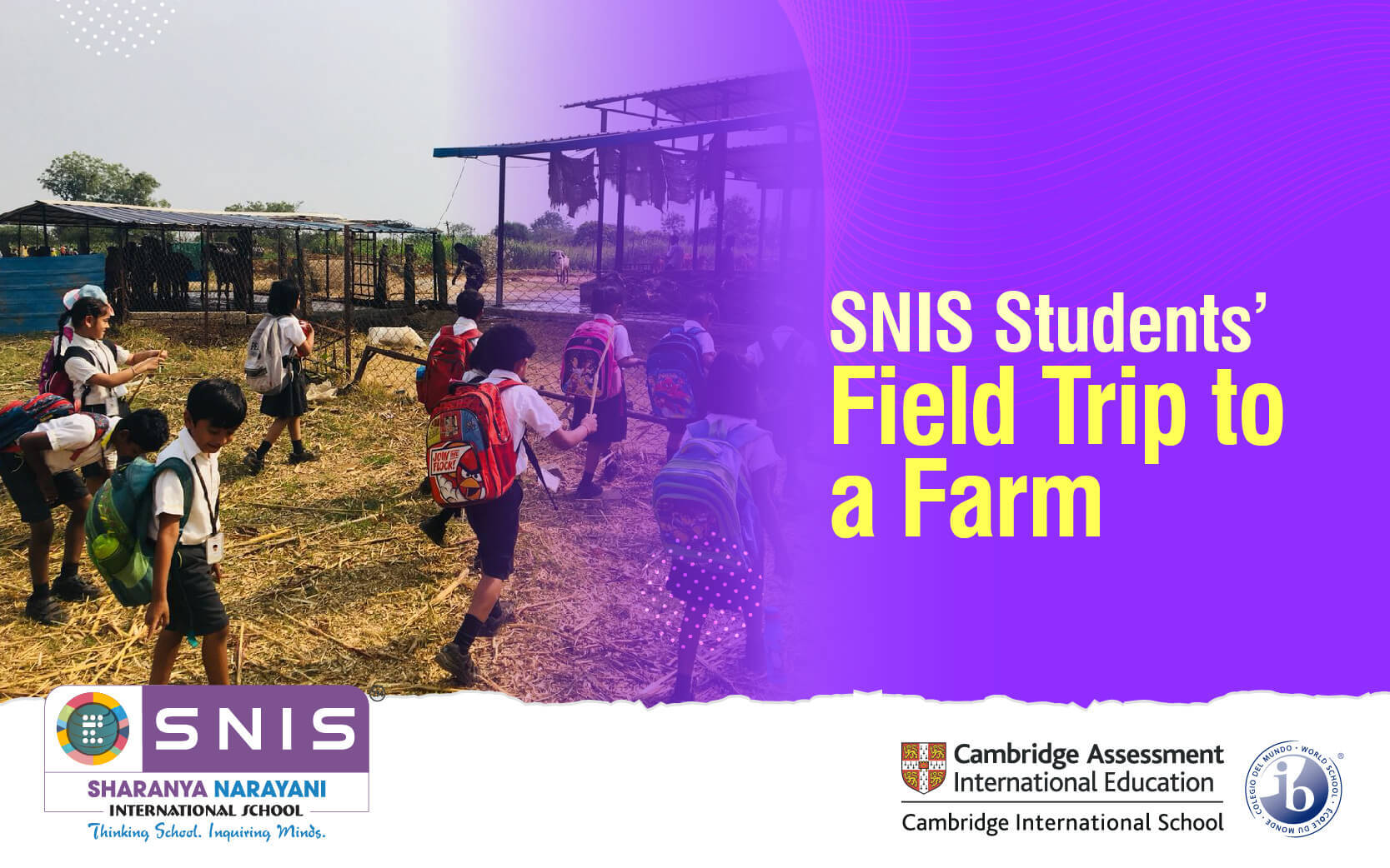 SNIS Students' Field Trip to a Farm by snis Top international schools in bangalore