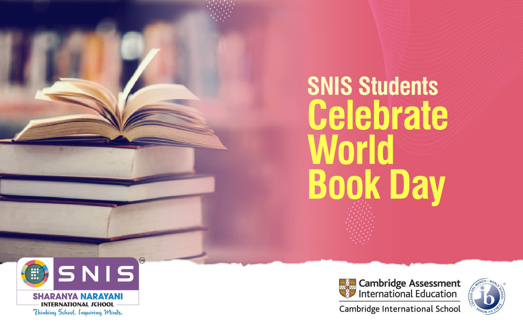 SNIS Students Celebrate World Book Day by snis Igcse schools in bangalore