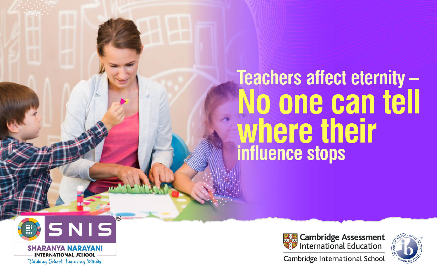 Teachers affect eternity - No one can tell where their influence stops by Best residential schools in bangalore