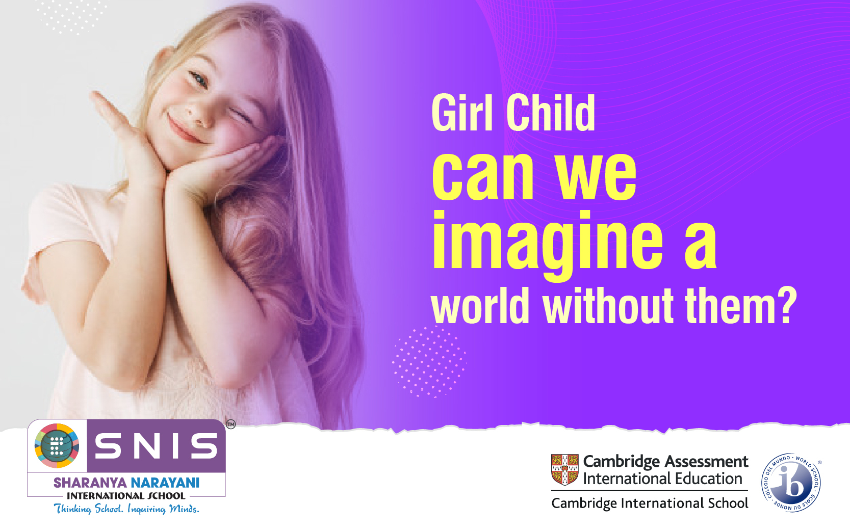 Girl Child, can we imagine a world without them by Best boarding schools in bangalore